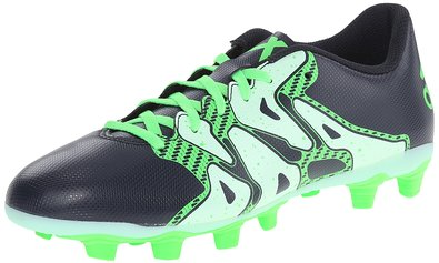 adidas Performance Women's X 15.4 FXG W Soccer Cleat,Navy Blue/Frozen Green/Flash Green,5 M US