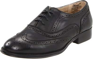 Wanted Shoes Women's Babe Oxford, Black, 5.5 M US
