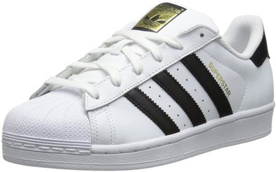 adidas Originals Women's Superstar Foundation Casual Sneaker, White/Black/White, 5 M US