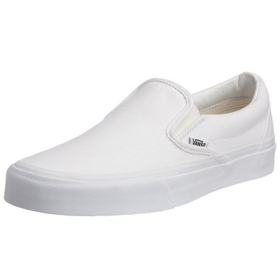 Vans Men's VANS CLASSIC SLIP ON SKATE SHOES 3.5 (TRUE WHITE)
