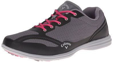 Callaway Footwear Women's Solaire Golf Shoe, Grey/Black, 6 M US