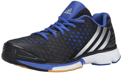 adidas Performance Women's Volley Response Boost W Shoe,Black/Silver/Bold Blue,5 M US