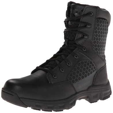 Bates Women's Code 6 Black 8 Inch Boot, Black, 5 M US