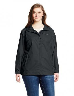 Columbia Women's Big Arcadia II Jacket Plus, Black, 2X