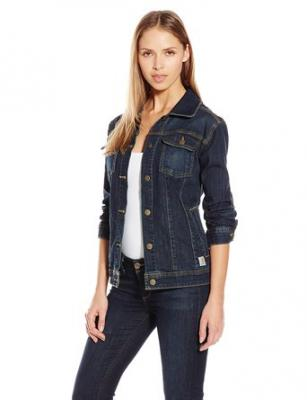 Carhartt Women's Brewster Denim Jacket, Timeworn Indigo, X-Small