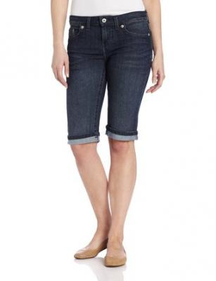 Dickies Women's Denim Bermuda Short, Antique Dark, 4