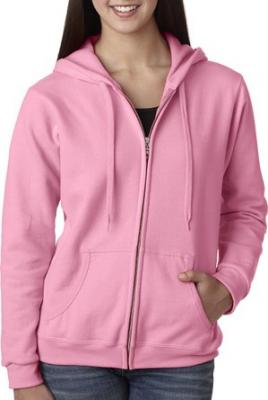 Gildan Women's Heavy Blend Full-Zip Hooded Sweatshirt, Small, Azalea