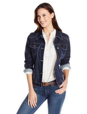 Wrangler Authentics Women's Denim Jacket, Drenched, Small
