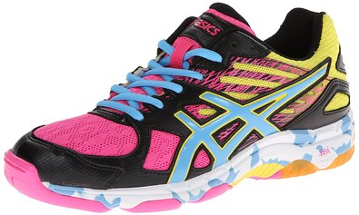 ASICS Women's Gel Flashpoint 2 Volley Ball Shoe,Black/Pool/Hot Pink,6 M US