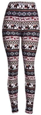 High Quality Printed Leggings (Autumn Elephant)