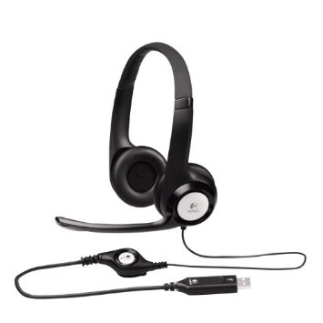 Logitech ClearChat Comfort/USB Headset H390, Noise Cancelling Microphone, Headphones for Computer (Black)