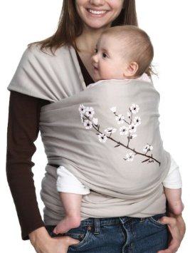 Moby Wrap UV SPF 50+ 100% Cotton Baby Carrier, Almond Blossom