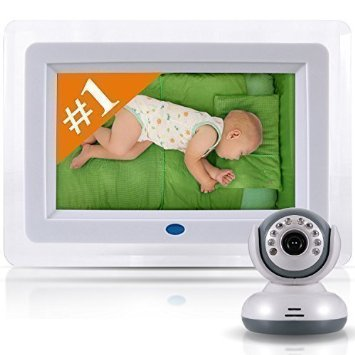 SafeBabyTech 7-Inch LCD Baby Monitor with WiFi Signal and Digital Camera