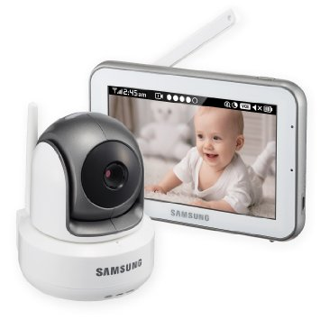 Samsung SEW-3043W BrightVIEW HD Baby Video Monitoring System IR Night Vision PTZ 5.0 Inch. Touch Screen