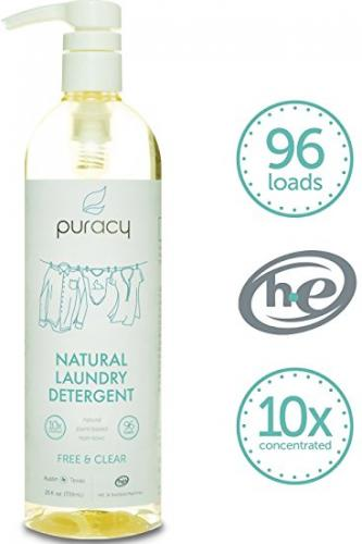 Puracy Natural Liquid Laundry Detergent - Sulfate-Free - THE BEST High Efficiency Soap - Free & Clear - 10x Concentrated, 24 fl. oz