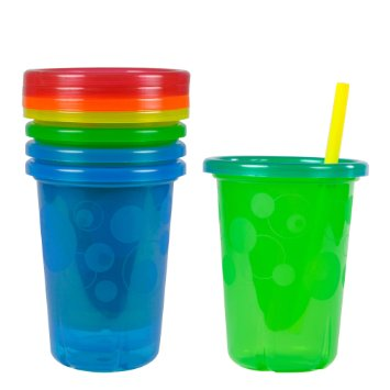 The First Years Take & Toss Spill-Proof Straw Cups - 10Oz, 4 Pack