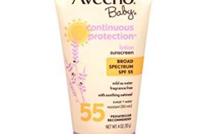 Aveeno Baby Continuous Protection Lotion Sunscreen with Broad Spectrum SPF 55, 4 Oz