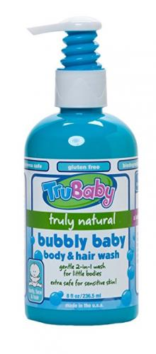TruBaby Bubbly Baby Body and Hair Wash, 8 Ounce