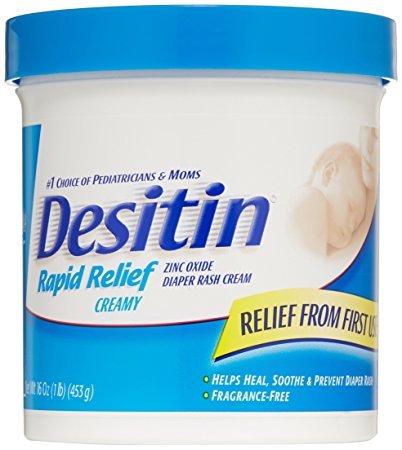 Desitin Rapid Relief Diaper Rash Cream for Babies, 16 oz.