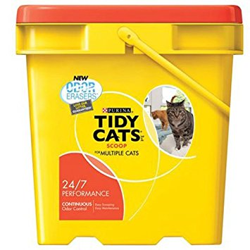 Tidy Cats Cat Litter, Clumping, 24/7 Performance, 27-Pound Pail, Pack of 1