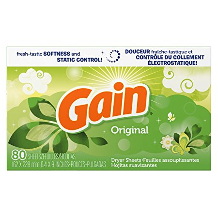 Gain Dryer Sheets, Original, 80 count