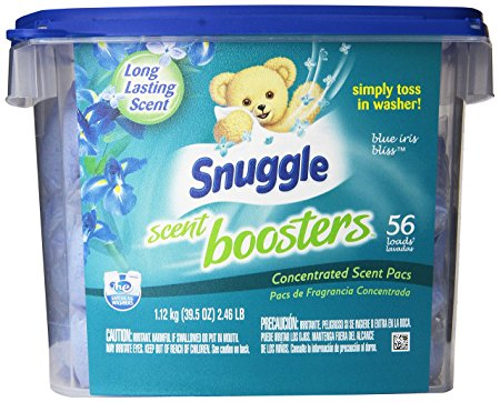 Snuggle Laundry Scent Boosters, Blue Iris Bliss, Tub, 56 Count