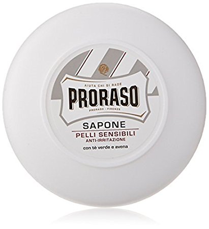 Proraso Shaving Soap with Green Tea and Oats, 5.2oz.