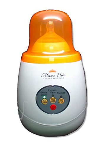 "Maxx Elite ""Gentle Warm"" Smart Bottle Warmer & Sterilizer w/ ""Steady Warm"" (Orange)"