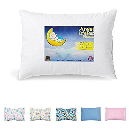 Angel Dreams 13x18-Inch Hypoallergenic Washable Toddler Pillow