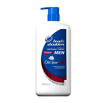 Head & Shoulders 2-in-1 Dandruff Shampoo and Conditioner for Men, Old Spice, 33.8 fl oz