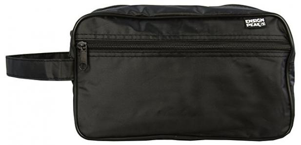 Ensign Peak Toiletry Travel / Shaving Bag, Black