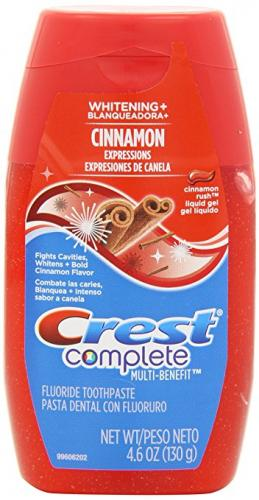 Crest Complete Multi-Benefit Whitening Plus Expressions Cinnamon Rush Liquid Gel Toothpaste 4.6 (Pack of 4)
