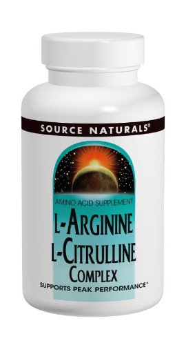 Source Naturals L-Arginine L-Citrulline Complex, 1000 MG, Supports Peak Performance,240 Tablets
