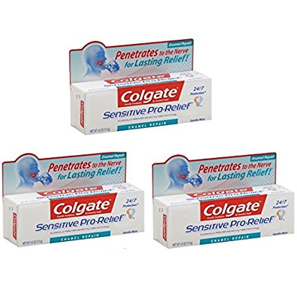 Colgate Sensitive Pro-Relief Enamel Repair, 4-Ounce (3 Pack)