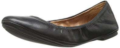 Lucky Women's Emmie Ballet Flat, Black/Leather, 7 M US