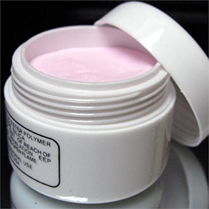 350buy Acrylic Pink Nail Art Tips Crystal Polymer Powder
