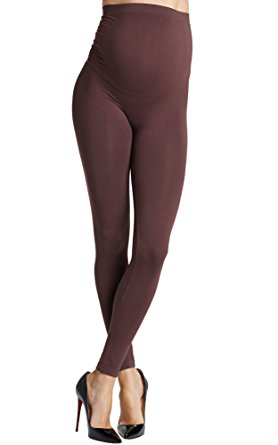 Preggo Leggings Women's Choco Cravings Maternity Leggings L/XL Brown
