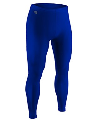 Youth Sports Form Fit, Ankle Length Compression Tight-Stay Dry and Cool During Football, Baseball, Dance, Track, and Soccer with Moisture Management and Anti-Microbial Technology-Sizes YS, YM, YL (Youth Large, Royal)