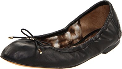 Sam Edelman Women's Felicia Ballet Flat, Black Leather, 9 M US