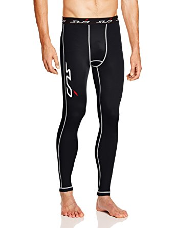 SUB Sports DUAL (All Season) Mens Compression Leggings / Pants - Base Layer Tights - Black - M