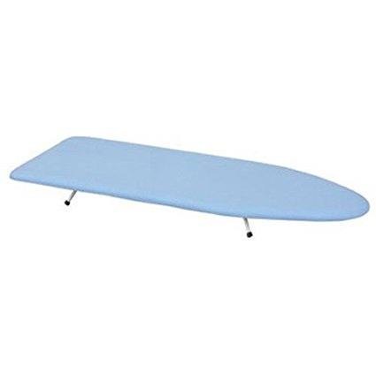Household Essentials Collapsible Space Saving Tabletop Ironing Board with Folding Legs, Blue