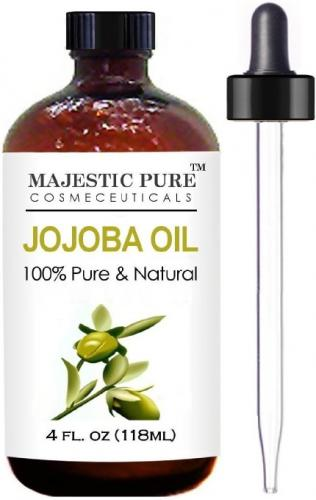Majestic Pure Jojoba Oil for Hair, Skin or As Carrier Oil, 4 fl. oz.