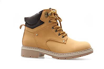 Forever Broadway-5 Combat Boots, Camel Pu, 10